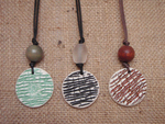 Ceramic Smocked Round Pendants
