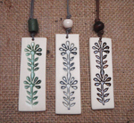 Ceramic Long Flower Pendants